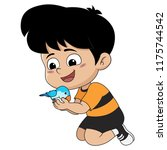 the child was playing with his... | Shutterstock .eps vector #1175744542