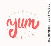 yum. yummy word. vector... | Shutterstock .eps vector #1175747872
