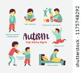 autism. early signs of autism... | Shutterstock .eps vector #1175748292