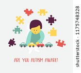 autism. early signs of autism... | Shutterstock .eps vector #1175748328