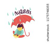 autism. early signs of autism... | Shutterstock .eps vector #1175748355