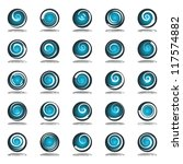 circle design elements with... | Shutterstock .eps vector #117574882