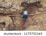 welding copper ground wire on... | Shutterstock . vector #1175752165
