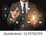 digital marketing media  in... | Shutterstock . vector #1175752795
