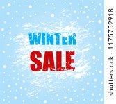 winter sale banner with...   Shutterstock .eps vector #1175752918