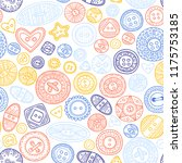 vector seamless pattern with... | Shutterstock .eps vector #1175753185