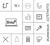 single icon. collection of 13... | Shutterstock .eps vector #1175754772