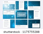 big set of vector templates for ... | Shutterstock .eps vector #1175755288