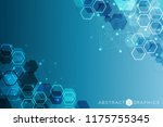 modern futuristic background of ... | Shutterstock .eps vector #1175755345