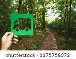 hand holding eco friendly green ... | Shutterstock . vector #1175758072