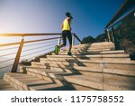 healthy lifestyle sports woman... | Shutterstock . vector #1175758552