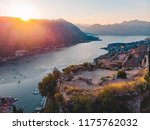 aerial view of kotor bay with... | Shutterstock . vector #1175762032