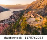 aerial view of kotor bay with... | Shutterstock . vector #1175762035
