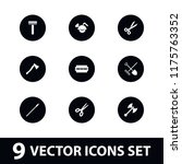 sharp icon. collection of 9... | Shutterstock .eps vector #1175763352