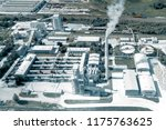 cement production  plant for... | Shutterstock . vector #1175763625