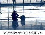 the silhouette of a young man... | Shutterstock . vector #1175763775
