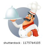 restaurant chef cook serving...   Shutterstock .eps vector #1175764105