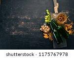 beer and snacks. salted... | Shutterstock . vector #1175767978