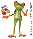 fun frog   3d illustration   Shutterstock . vector #1175768872