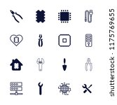 hardware icon. collection of 16 ... | Shutterstock .eps vector #1175769655