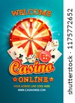 welcome flyer for casino online ... | Shutterstock .eps vector #1175772652