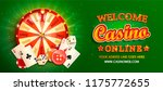 welcome online casino banner... | Shutterstock .eps vector #1175772655