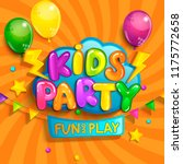 super banner for kids party in... | Shutterstock .eps vector #1175772658