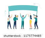 vector illustration  holding... | Shutterstock .eps vector #1175774485