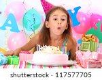 Little Beautiful Girl Celebrate ...