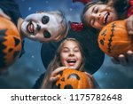 happy brother and two sisters... | Shutterstock . vector #1175782648