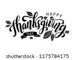 happy thanksgiving day with... | Shutterstock .eps vector #1175784175