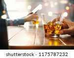 close up of two men of whiskey... | Shutterstock . vector #1175787232