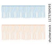 fringe rows vector garments... | Shutterstock .eps vector #1175789095