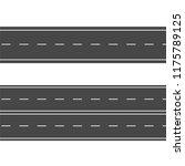 horizontal roads. street vector ...   Shutterstock .eps vector #1175789125