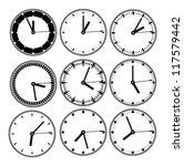 clock set | Shutterstock .eps vector #117579442