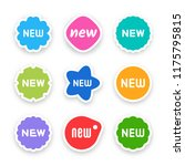 new tag icon  label ang sticker | Shutterstock .eps vector #1175795815