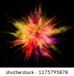 explosion of coloured powder... | Shutterstock . vector #1175795878
