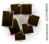 set of vintage photo frame with ... | Shutterstock .eps vector #1175798995