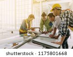 team engineer  and architect... | Shutterstock . vector #1175801668