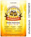 oktoberfest beer festival... | Shutterstock .eps vector #1175803855