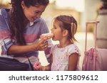 time for desert. mother and... | Shutterstock . vector #1175809612