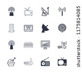 antenna icon. collection of 16... | Shutterstock .eps vector #1175814085