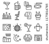vector line bar and pub icons... | Shutterstock .eps vector #1175816785