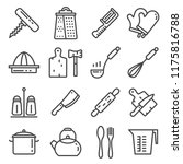 line kitchen tool collection  ... | Shutterstock .eps vector #1175816788