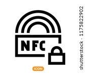 nfc technology vector icon.... | Shutterstock .eps vector #1175822902