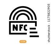 nfc technology vector icon.... | Shutterstock .eps vector #1175822905