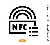 nfc technology vector icon.... | Shutterstock .eps vector #1175822908