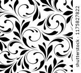 floral seamless pattern. swirls ... | Shutterstock .eps vector #1175827822