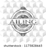 ailing grey emblem. retro with...   Shutterstock .eps vector #1175828665