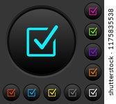 checked box dark push buttons... | Shutterstock .eps vector #1175835538